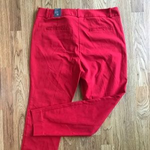 NWT LIMITED Ideal Stretch Skinny Leg Pants Red 14